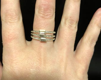 Stackable silver plated rings