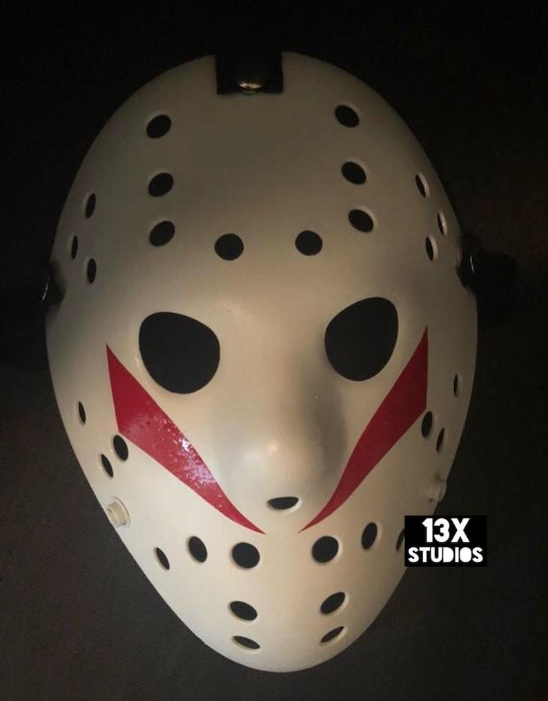 Jason part 5 Red ROY Custom 13X Studios Hockey Mask image 0