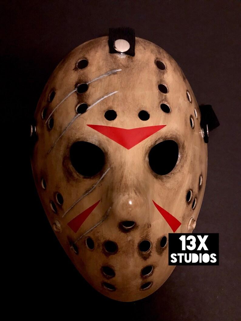 Damaged Freddy VS Jason Custom 13x Studios Hockey Mask Friday image 0