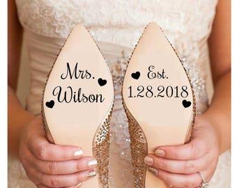 Wedding Shoe Decal  7b95103be4f4
