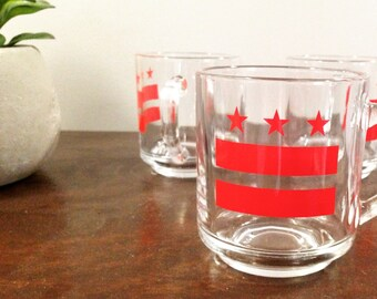 13oz Washington DC Pride Glass Mugs Set of 4