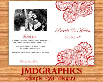 Whimsical Indian Paisley Red Design Elegance By JMDGraphics