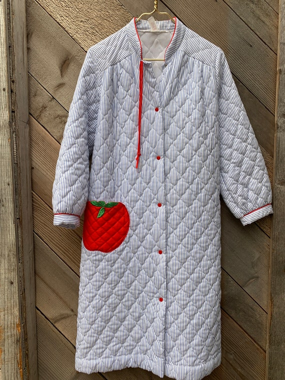 vintage quilted housecoat