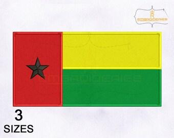 af01dd5029 Guinea Bissau Flag Machine Embroidery Design