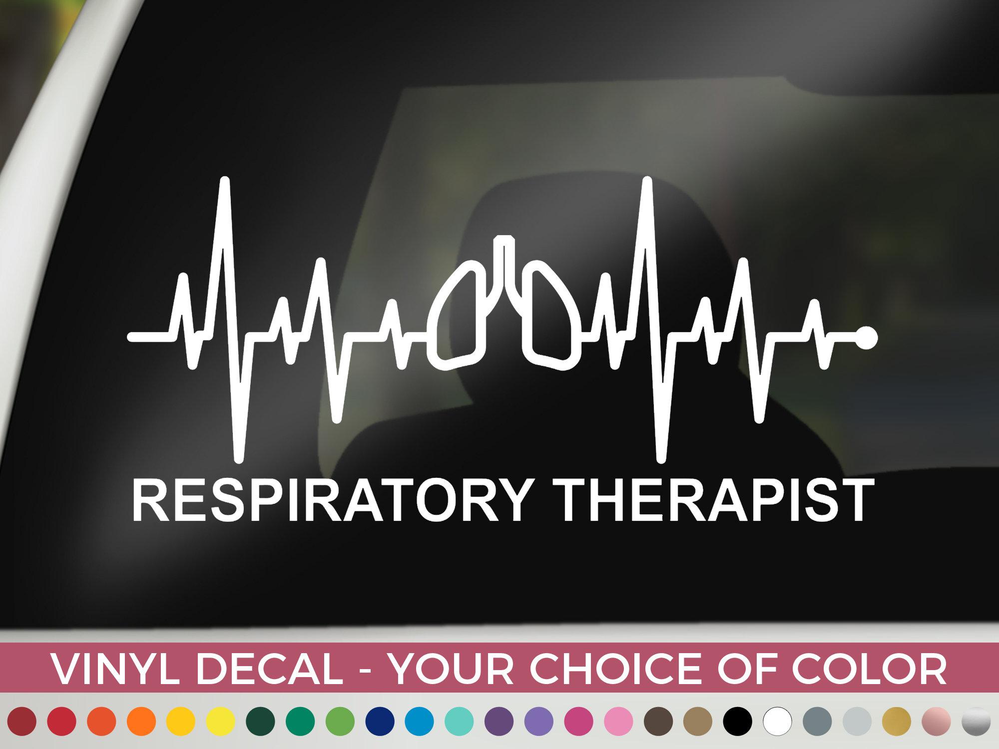 Respiratory Therapist RN Nurse Reflective or Matte vinyl decal Sticker