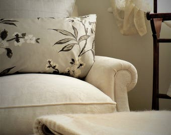 Exotic Floral Silk Feather Bolster