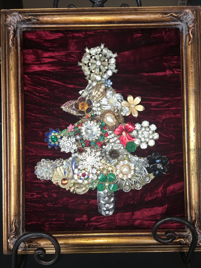 Framed Jewelry Christmas Tree | Etsy