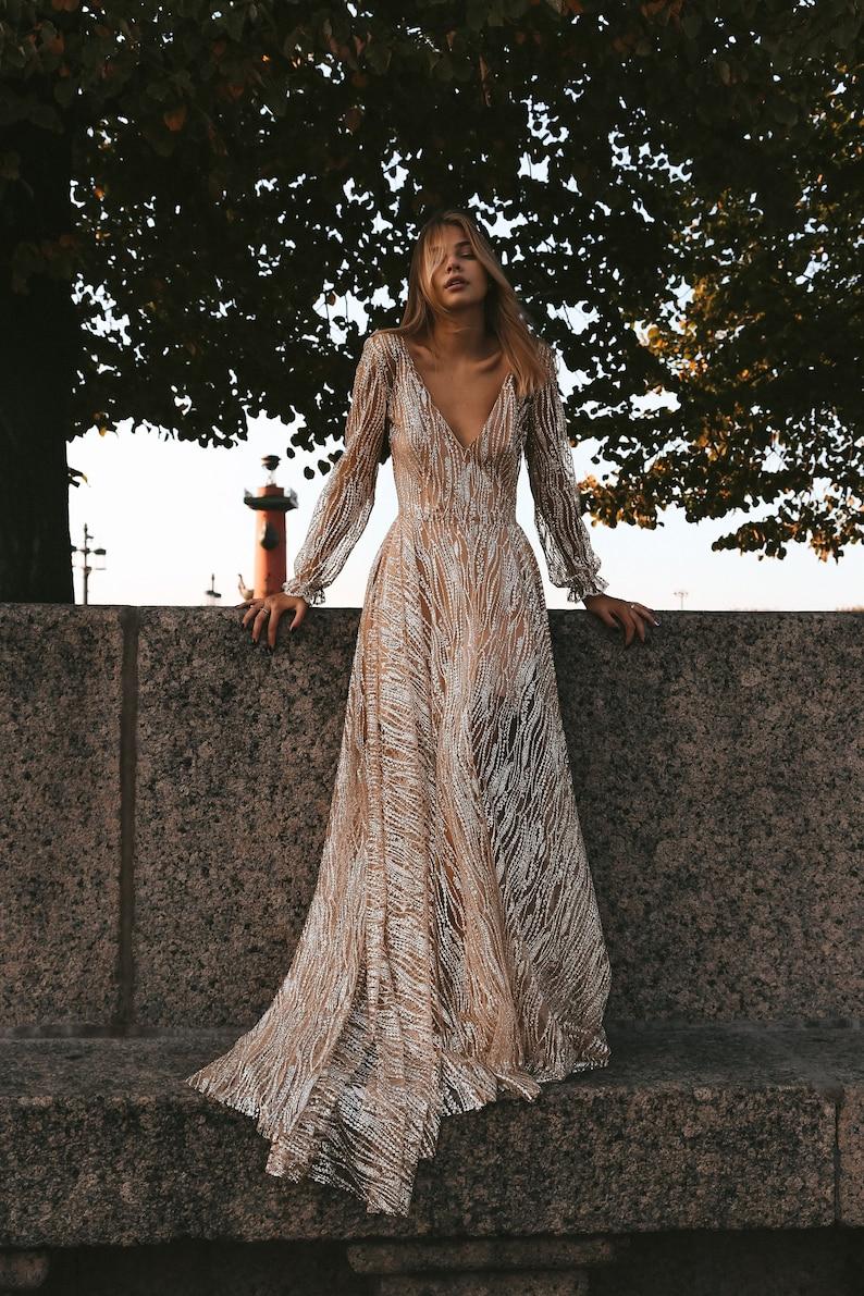 f8b9486fe4d Galaxy by Boom Blush Exclusive Sparkly Wedding Dress. Unique