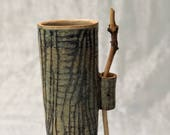 Ceramic Vase with yew woo...