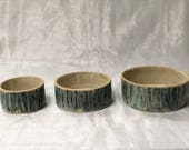 Set of Three Stoneware ce...