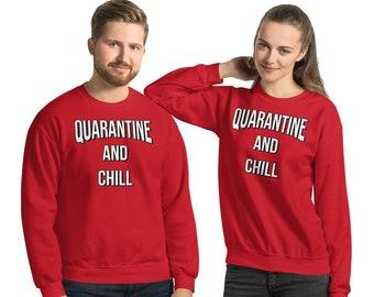 Sweatshirt Quarantine And Chill Hoodie Husky Gift Funny Nursing Shirt Stay At Home Tanktop Ew People Funny Husky T-Shirt Covid Shirt