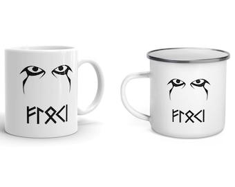 Floki Mug - Viking Enamel Mug - Vikings Cup - Norse Drinkware
