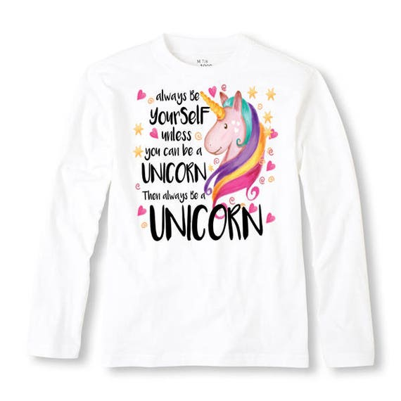 Always Be Yourself Unless You Can Be A Unicorn Novelty Youth Kids T-Shirt Tee