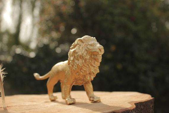 Gold Lion Aslan Wedding Cake Topper Centrepiece Decoration