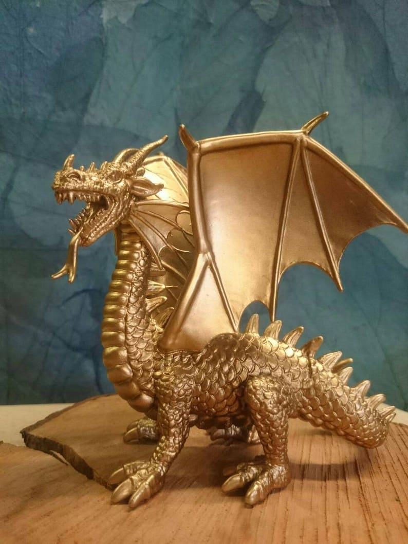 Gold Dragon Wedding Cake Topper Welsh G O T Dragons Game Targaryen Silver  Potter Beasts Draco Skyrim ESO