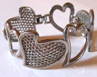 Jean Louis Scherrer Paris 1980 made in France vintage heart bracelet