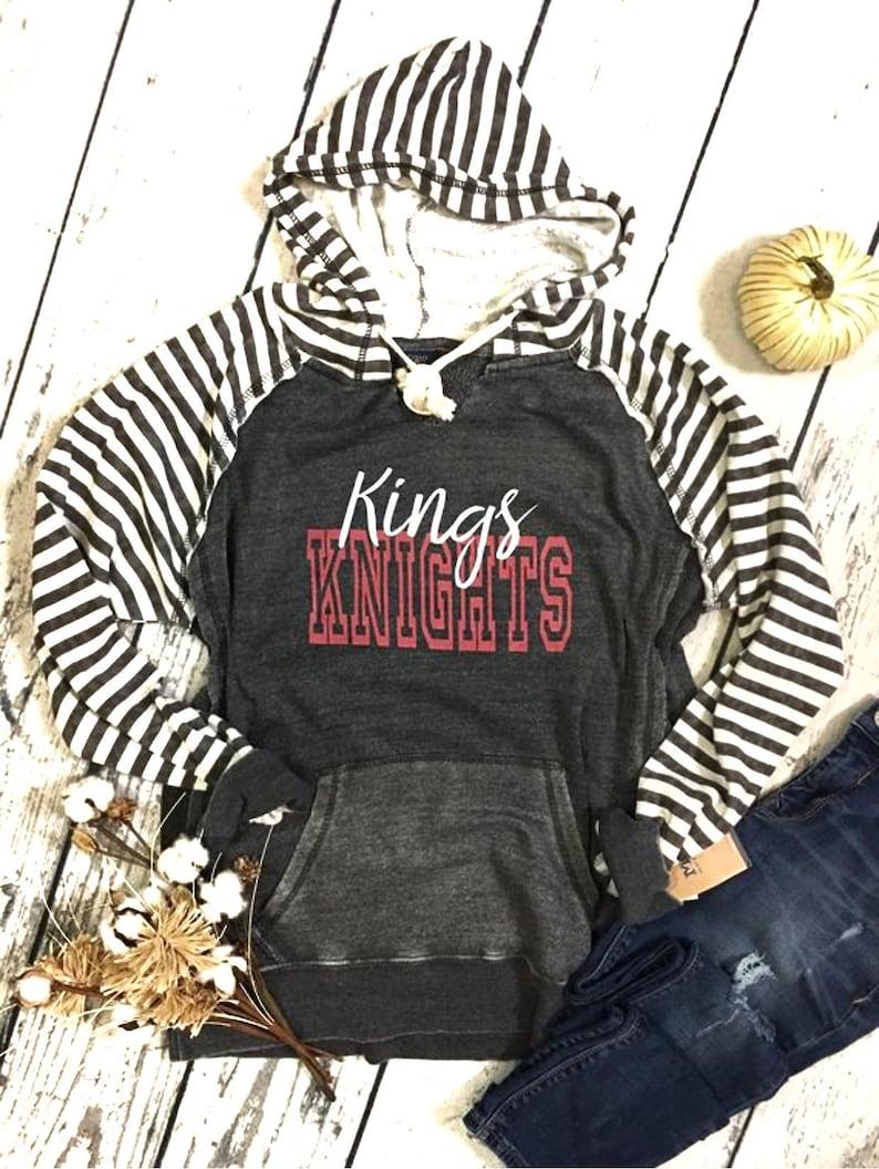 Spirit Wear Grey Striped Hoodie