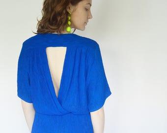 Vintage 80's Minimal Textured Dress