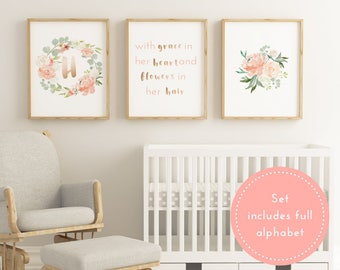 Printable Blush Baby Girl Nursery Decor