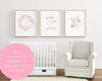 Baby girl wall decor | Etsy
