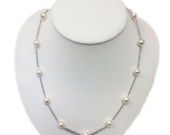 7ed92f21588 Sterling Silver 925 Station Necklace