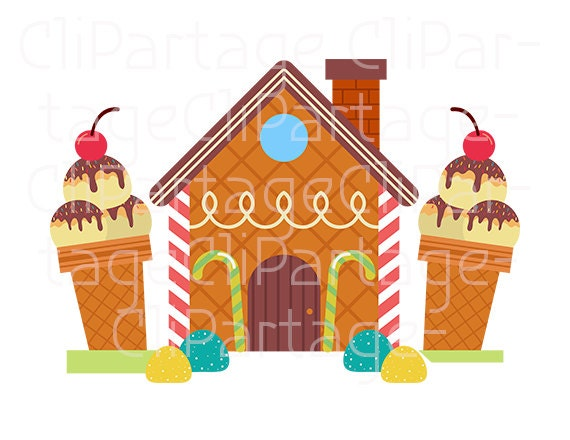 hansel and gretel cliparts candy house cliparts instant download rh etsystudio com