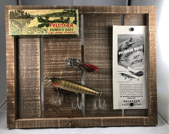 Vintage Fishing Lures Display