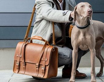 Men's Leather Weekender Bag, Duffle Bag, Hip Cabin Luggage, Messenger, Laptop Bag, Travel Overnight bag, Daytripper, Handbag, Men's Fashion