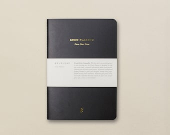 The Grow Planner, Cannabis Grower's Weekly Planner, Guided Pages, Cultivation Charts, Weed Notebook, Marijuana Journal by Goldleaf