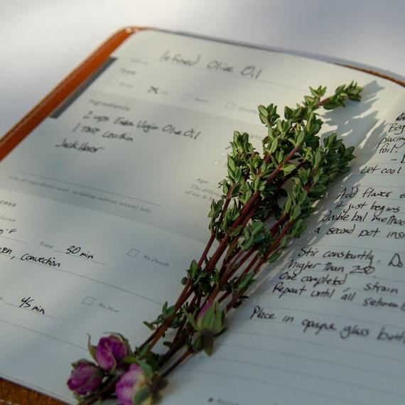 Taille A5 mémoire book.personalised Livre de recettes de cuisson Scrapbook album photo