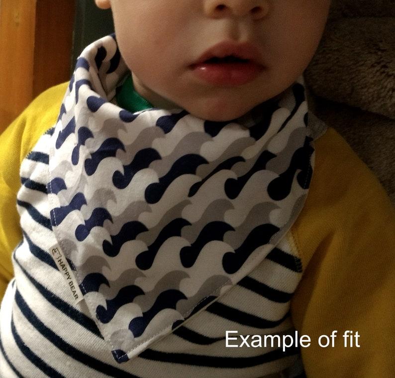 Bandana Bib Leafs Jersey and Interlock Knit Drool Bib Metal Snaps BambooHemp /& Organic Cotton