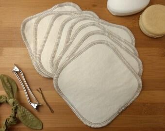 CUSTOM, 5 Inch, Qty 8, Hemp/Bamboo Jersey, 2 Ply, Facial wipes, Cloth Wipes, Reusable Facial Wipes