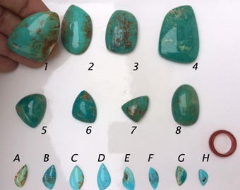 Cabochons AAA of natural Arizona (Kingman Mine) Turquoise, from 1 to 140 carats *.