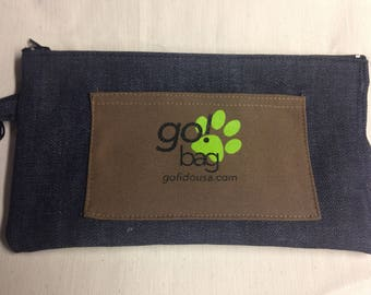 """Dog walking """"go"""" bag  Holds everything you need when out for a walk or hike with your favorite pet!"""