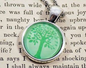 Pendant Necklace - Spring Tree - Meme Jewelry, Meme Gifts, Dank Memes, Funny Gifts, Internet Gifts, Birthday Gift, Vintage