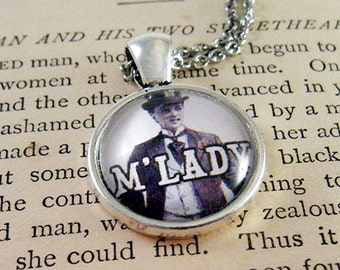 Pendant Necklace M'LADY Meme Jewelry, Meme Gifts, Dank Memes, Funny Gifts, Internet Gifts, Birthday Gift, Vintage