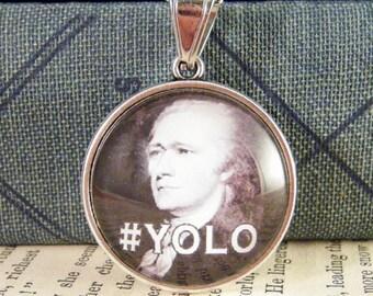 Hamilton #YOLO / Burr #UMAD? - 25mm Double-Sided Pendant