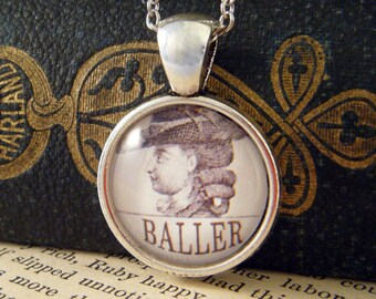"""Pendant Necklace """"Baller"""" - Meme Jewelry, Meme Gifts, Dank Memes, Funny Gifts, Internet Gifts, Birthday Gift, Vintage"""