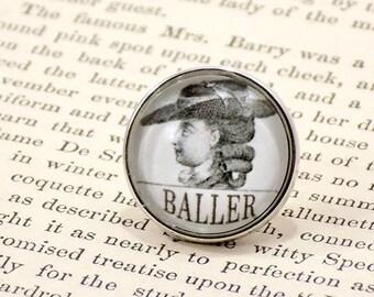 "Snap Charm Button - ""Baller"", Meme Jewelry, Meme Gifts, Dank Memes, Vintage, Noosa, Ginger Snaps, Antique"