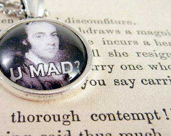 """Pendant Necklace Aaron Burr """"U MAD?"""" Meme Jewelry, Meme Gifts, Dank Memes, Funny Gifts, Internet Gifts, Birthday Gift, Vintage"""