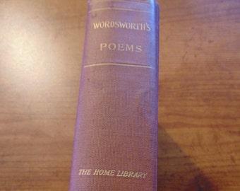 Wordsworth Poems Book  Complete Poetical Works of William Wordsworth 1919 ?