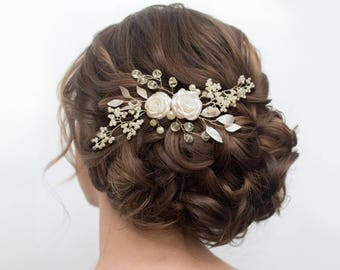 Wedding hair piece, wedding headpiece, Wedding hair comb, Pearl Hair Comb, Bridal Hair Comb, Bridal Hair Piece