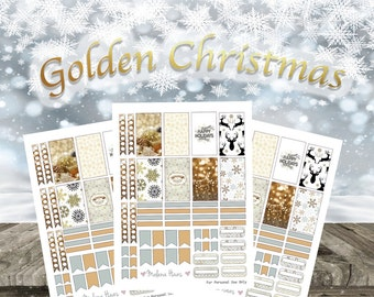 Happy Planner Gold Christmas Planner Stickers Printable