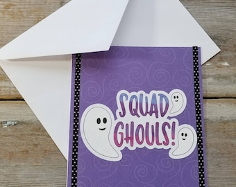 Purple greeting card etsy ghost greeting squad ghouls ghost card funny halloween card ghost halloween card purple greeting cards best friend card for her m4hsunfo