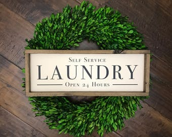 Self Service Laundry   Laundry Room Sign   Laundry Sign   Laundry Room Decor   Farmhouse Sign   Farmhouse Style   Farmhouse Decor   Laundry