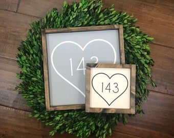143 I Love You Sign | Modern Farmhouse Boho Decor | Anniversary Wedding Gift | Youre Still the One | Wood Sign | Mr Rogers | Darling I Love