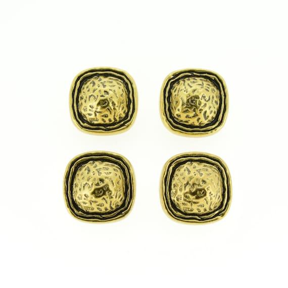 round shank 18mm textured gold metal Buttons x 20
