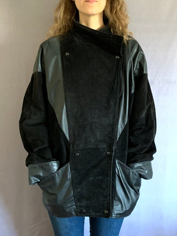 80s Suede Leather Bomber Jacket