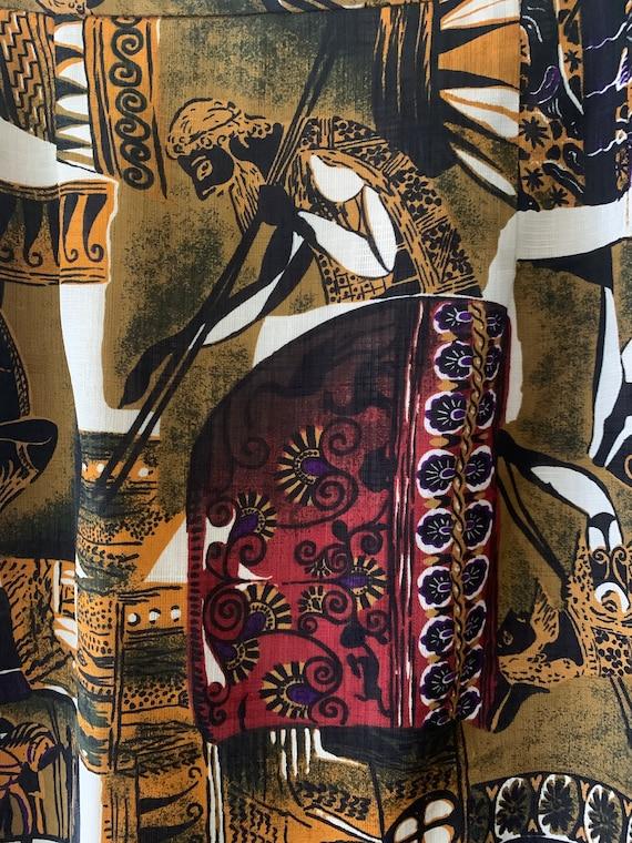 90s Roman Novelty Print Pencil Skirt - image 2