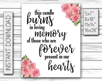 graphic regarding In Loving Memory Free Printable referred to as This Candle Burns inside of Loving Memory of These For good Clearly show